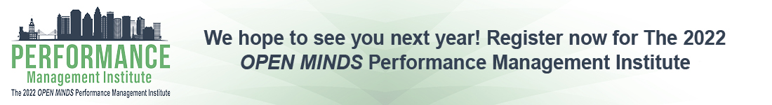 Performance Management Institute Registration Banner and Link for 2022
